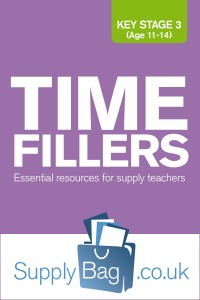 Key Stage 3 Time Fillers for Supply Teachers